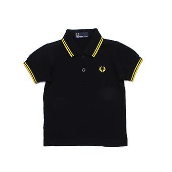 Fred Perry My First Fred Perry Boxed Black Polo Shirt