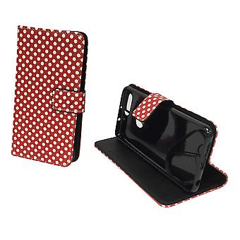 Mobile phone case pouch for mobile Huawei honor 8 polka dot Red