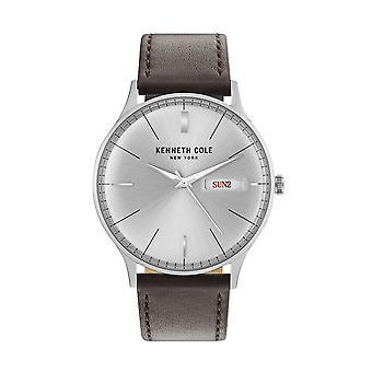 Kenneth Cole New York men's wrist watch analog quartz leather KC50589011