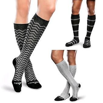 Therafirm Core Spun Patterned Support Socks [Style AC11b] Slate Argyll  XL