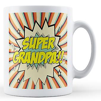 Super vovô!!!! Pop arte caneca - caneca de impressos