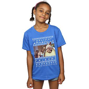 Friends Girls Fair Isle Holiday Armadillo T-Shirt