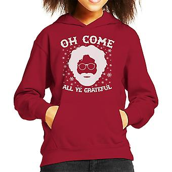 Christmas Oh Come All Ye Grateful Dead Kid's Hooded Sweatshirt