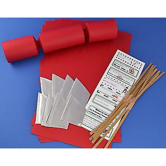 8 Jumbo Red Make & Fill Your Own Cracker Making Craft Kit