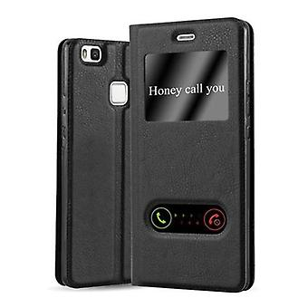 Cadorabo case for Huawei P9 LITE - mobile case with stand function and 2 Windows - case cover sleeve pouch bag book Klapp style