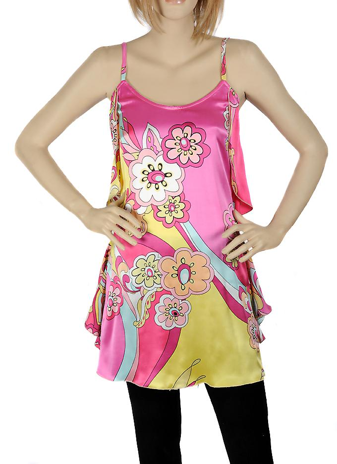 Waooh - Fashion - Little pink silk dress with flower design