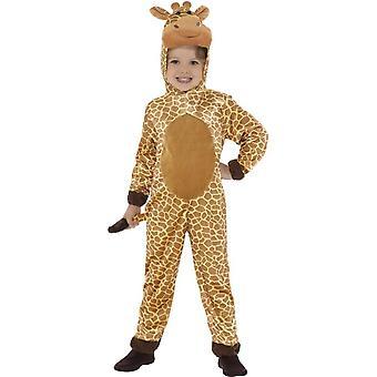 キリンの衣装、フード付きジャンプ スーツ ・尾と茶色
