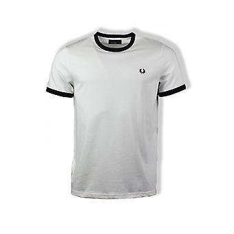 Fred Perry Ringer Short-Sleeved T-Shirt (Snow White)