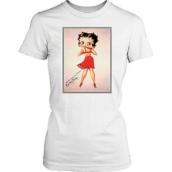 Betty Boop Vintage Cartoon - wie de motie dames T Shirt zal tweede