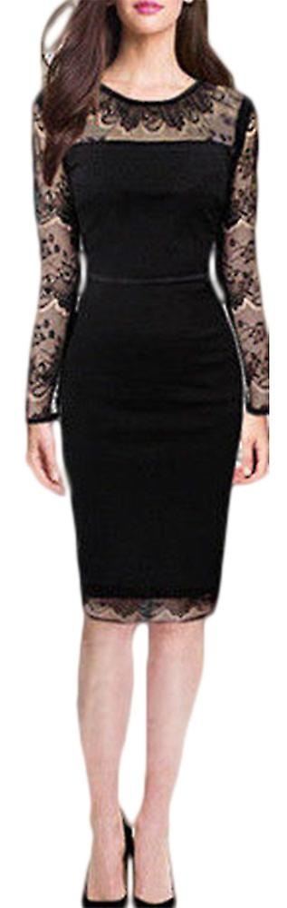 Waooh - dress suit with neckline and lace sleeves Fenn