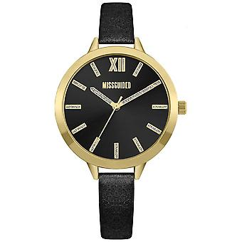 Missguided | Women's Black Leather Strap | Black Dial | MG005BG Watch