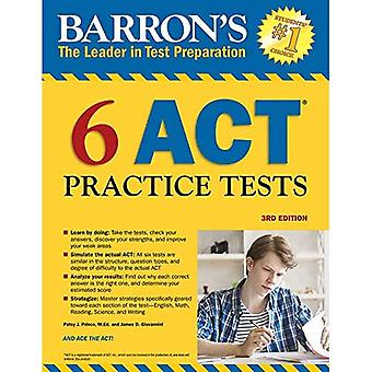 Barron's 6 ACT Practice Tests, 3rd Edition