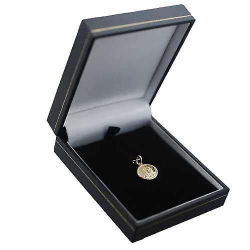 18ct Gold 13mm round Our Lady of Sorrows Pendant