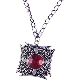 Medallion Vampire Red Gem