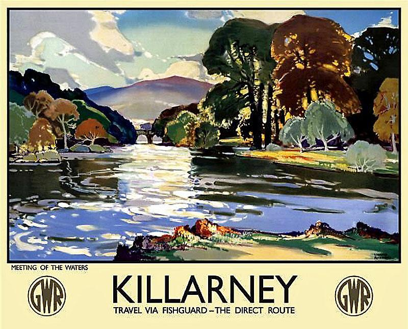 Killarney (old rail ad.) metal sign  (og 4030)