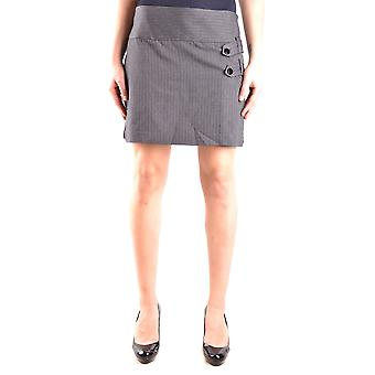 Pinko Grey Viscose Skirt