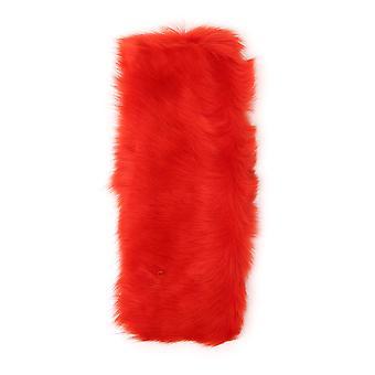 Desa 1972 Red Faux Fur Scarf
