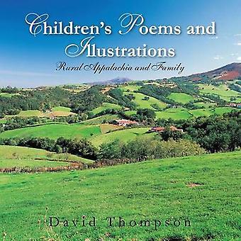 Childrens dikt og illustrasjoner landlige Appalachia og familie Thompson & David