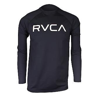 RVCA Mens VA Sport Micro Mesh LS Surf T-Shirt - Black