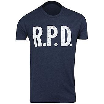 Capcom Mens Resident Evil Racoon Police Dept RPD T-Shirt - Midnight Navy