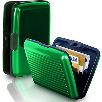 Aluminium wallet (green)