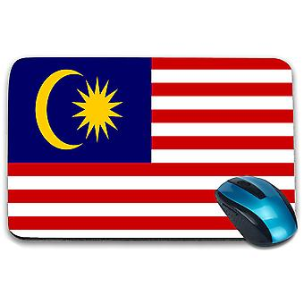 i-Tronixs - Malaysia Flag Printed Design Non-Slip Rectangular Mouse Mat for Office / Home / Gaming - 0105