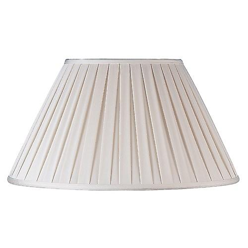 Endon CARLA-12 Carla Cream Box Pleated Fabric Lamp Shade - 12 Inch