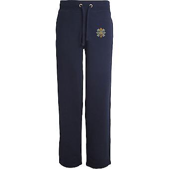 Highland Light Infantry - Licensed British Army Embroidered Open Hem Sweatpants / Jogging Bottoms