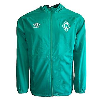 2019-2020 Werder Bremen Umbro Shower Jacket (Green)