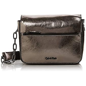 Calvin Klein Night Out Small Shoulder Bag Metalic - Borse a tracolla Donna Grigio (Gun Metal) 7x15x21 cm (B x H T)