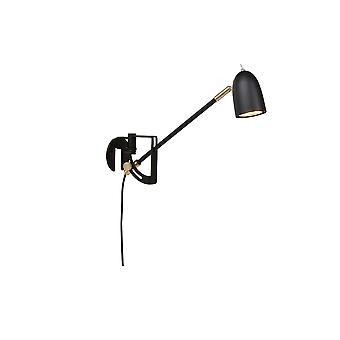 Belid - Radiell parete lampada nero finitura 501486
