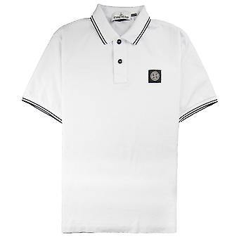 Stone Island Twin Tipped Short Sleeve Polo Shirt 'Regular Fit' White