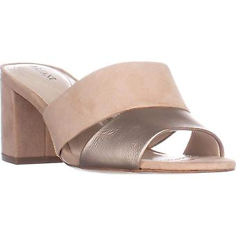 Alfani Womens Rochele Leather Open Toe Casual Slide Sandals