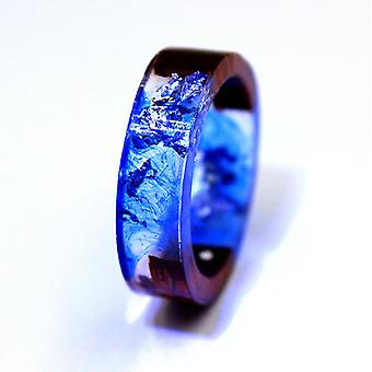 Wood & resin nature ring