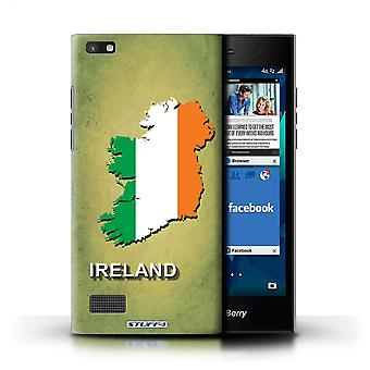 STUFF4 Case/Cover for Blackberry Leap/Ireland/Irish/Flag Nations