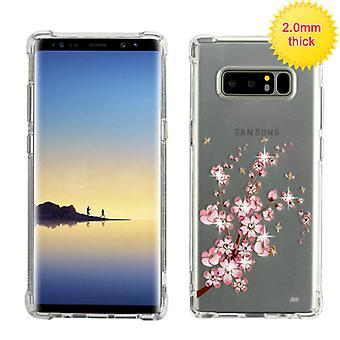 MYBAT Spring Flowers Glassy Klarity Premium Candy Skin Cover (w/ Diamonds) for Galaxy Note 8