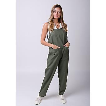 Roxanne linen jumpsuit in green