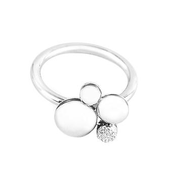 Calvin Klein steel ring with Diamonds