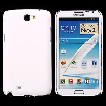 Cover with smooth, soft cover, hard plastic, for Samsung Galaxy Note 2 (white)