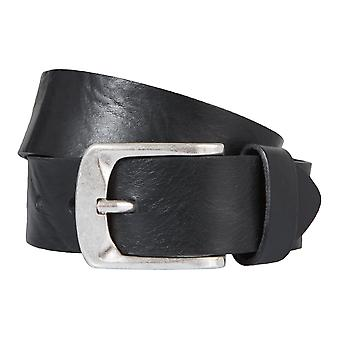 BERND GÖTZ belt leather men's belts leather belt black shortened 144