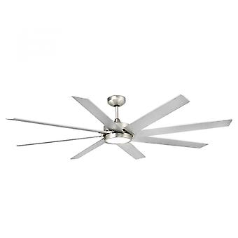 Faro energy-saving LED ceiling fan Century matt nickel 165cm / 65