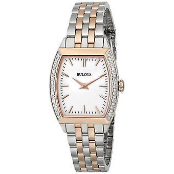 Bulova Women's 98R200 Analog Display Japanese Quartz Two Tone Watch