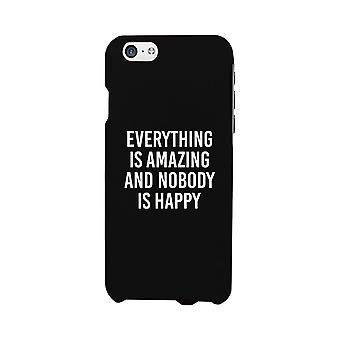 Nobody Happy Black Slim Fit Cute Phone Cases For Apple, Samsung Galaxy, LG, HTC