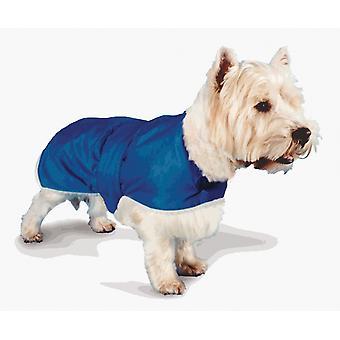 Waterproof Fur Lined Coat Blue 71cm