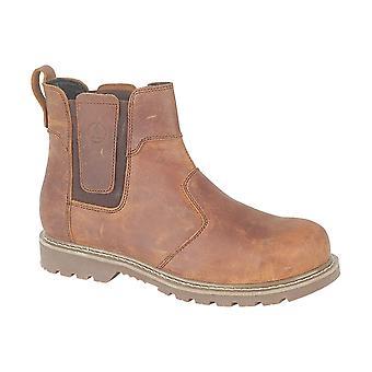 Gibt Mens Abingdon Casual Händler Stiefel Textil Leder PU Slip On Schuhe