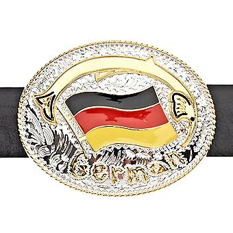 Iced out FLAG belt - GERMANY gold / silver