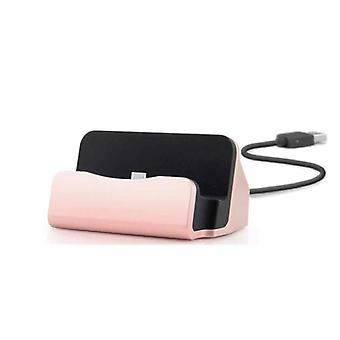 Cradle sync charger dock charging stand for Smartphone USB 3.1 type C pink gold