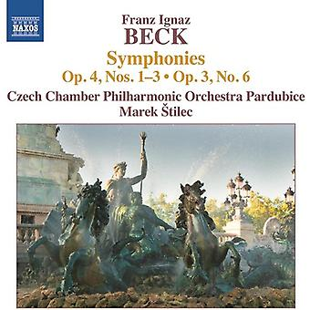 Beck / Stilec / Czech Chamber Phil Orch Pardubice - Syms Op. 4 1-3 & Op. 3 6 [CD] USA import