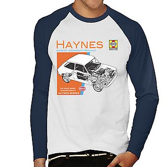 Haynes Besitzer Workshop Manual 0173 Fiat 127 Herren Baseball T-Shirt Langarm