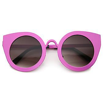 Montatura Oversize donna gatto occhio occhiali da sole rotondi 47mm